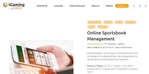Online Sportsbook Management