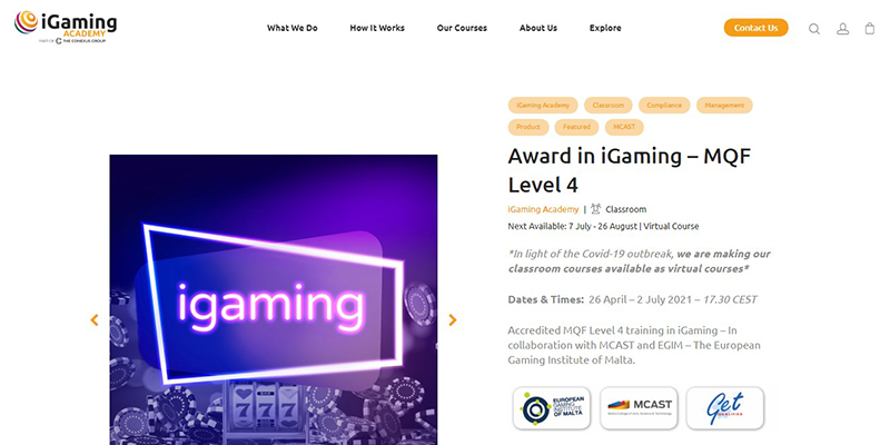 iGaming Academy: Award in iGaming